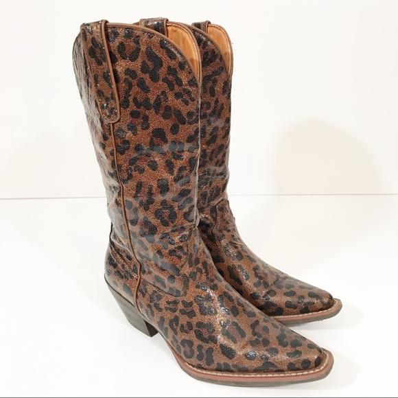 16396f65d30 Nomad Sunline Leopard Cowboy Boots 8